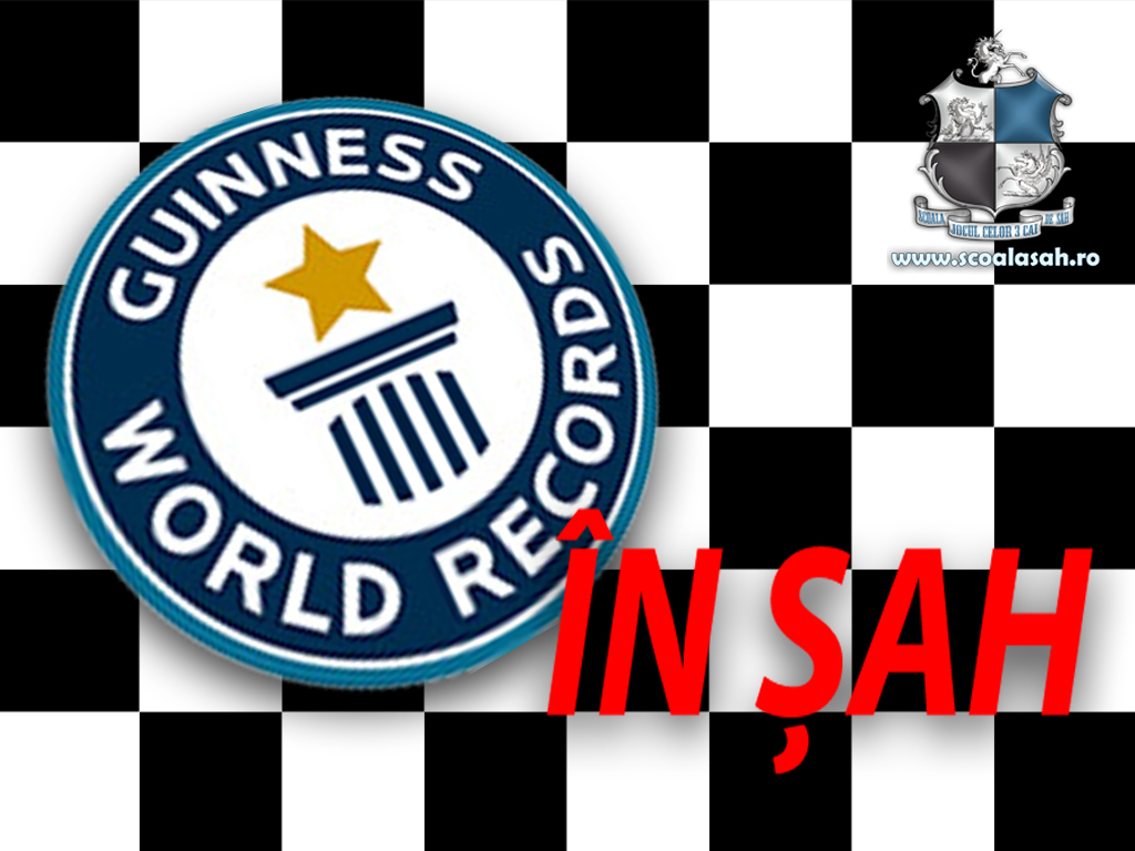 Recorduri la sah ajunse in Guiness Book of Records